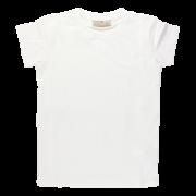 Biele elastické tričko s krátkymi rukávmi Oeko-Tex | NORDIC LABEL