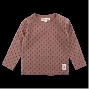 Dolly orieškovohnedé elastické tričko s dlhými rukávmi | Small Rags