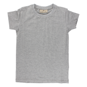 Šedé melírované tričko s elastanom a krátkymi rukávmi Oeko-Tex | NORDIC LABEL