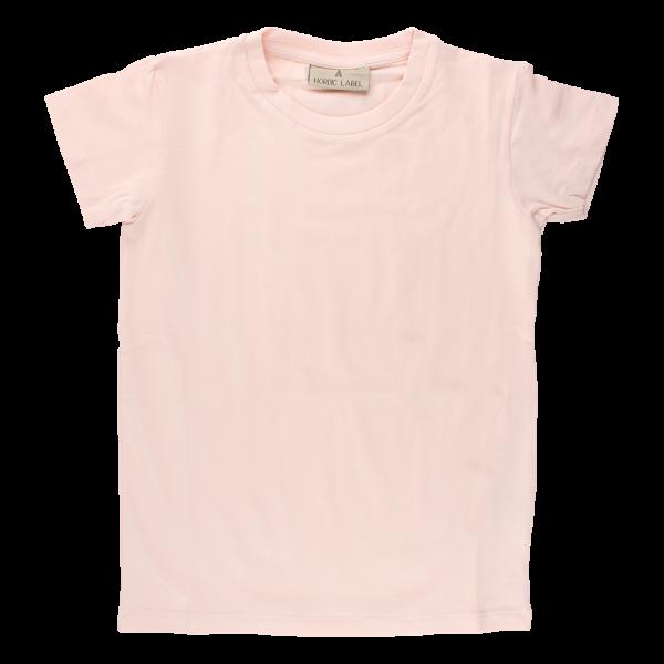 Bledoružové elastické tričko s krátkymi rukávmi Oeko-Tex | NORDIC LABEL
