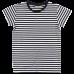 Prúžkované čierno-biele tričko s elastanom a krátkymi rukávmi Oeko-Tex | NORDIC LABEL