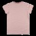 Prúžkované elastické bledoružové/škoricové tričko s krátkymi rukávmi Oeko-Tex | NORDIC LABEL