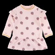 Hella bledoružové kvetinkové šaty SMALL RAGS
