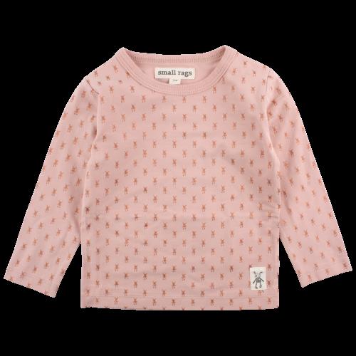Ella ružové elastické tričko s trblietavou vzorkou | Small Rags