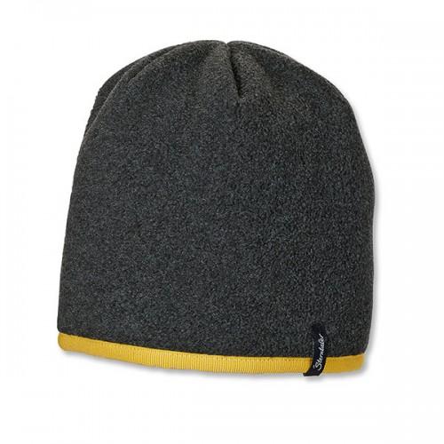 Tmavosivá čiapka so žltým lemovaním | Sterntaler