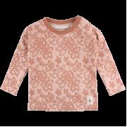 Bay čipkované tričko/mikina s dlhými rukávmi ružovomedenej farby | Small Rags