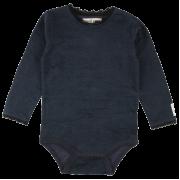 Bay tmavomodré čipkované body s dlhými rukávmi | Small Rags