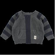 Bruce sivo-modrý pletený sveter | Small Rags