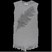 Bera sivé šaty s pierkom | Small Rags