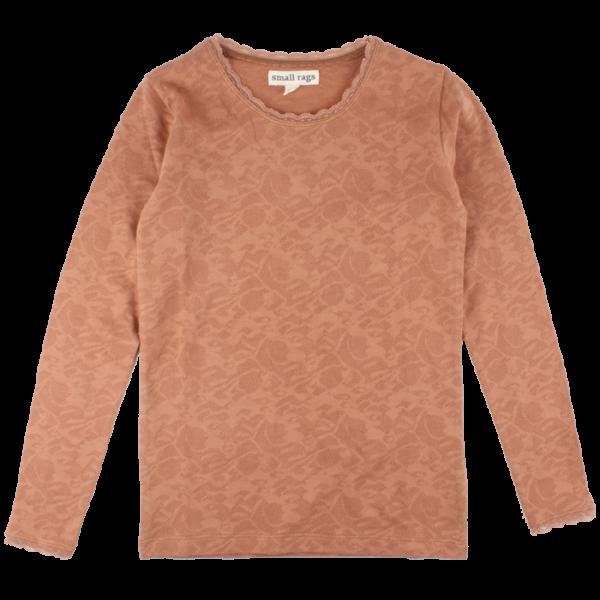 Bera ružovomedené čipkované tričko s dlhými rukávmi   Small Rags