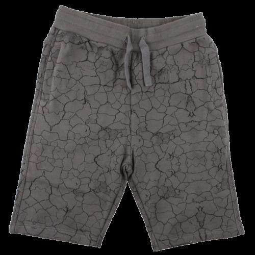 Bryan tmavosivé krátke nohavice s efektom popraskanej zeme | Small Rags