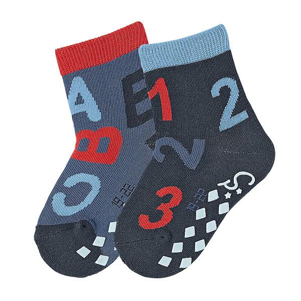 Protišmykové ABS tmavomodré ponožky ABC/123
